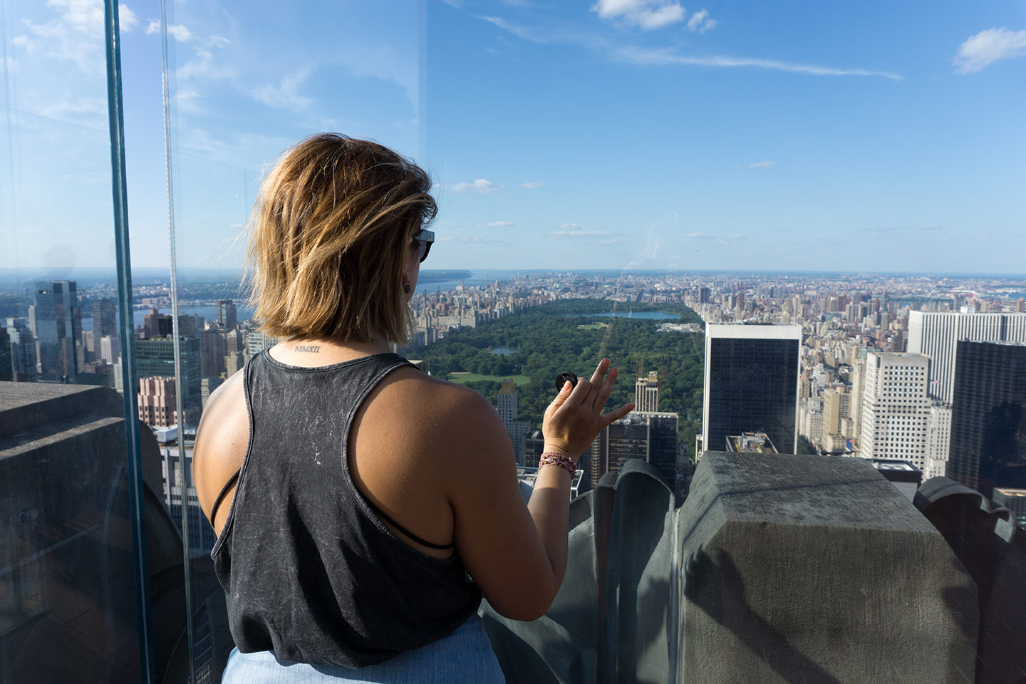 me overlooking central park