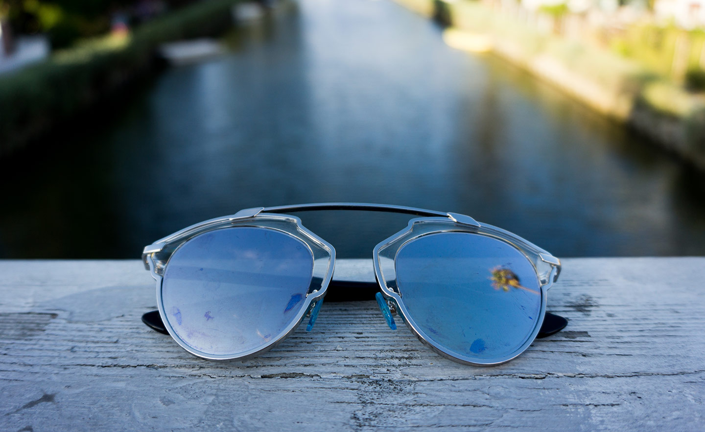 sunglasses on the canal